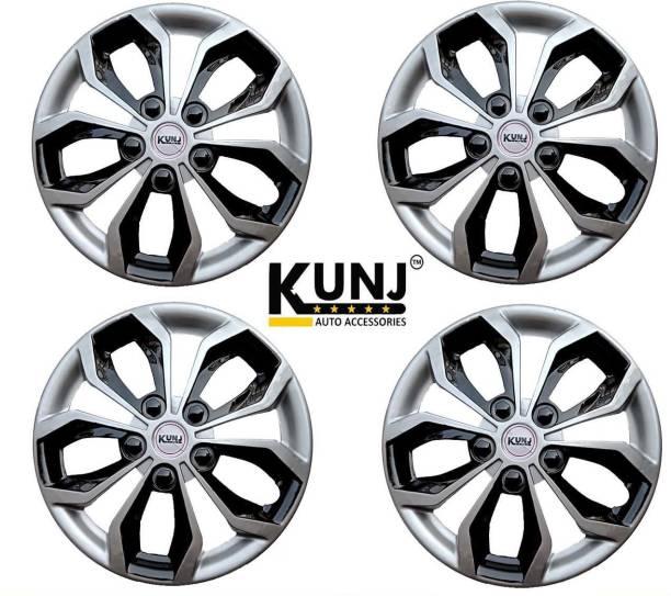 Kunj Autotech 14 Inch Universal Double Color Wheel Cover For Universal For Car Universal For Car
