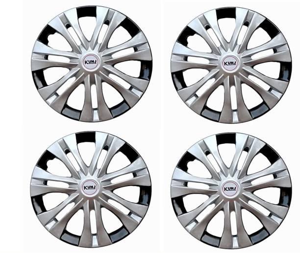 Kunj Autotech 12 Inch Universal Double Color Wheel Cover For Universal For Car Universal For Car