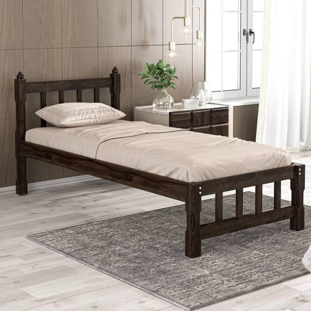 Meera Handicraft Sheesham Wood Solid Wood Single Bed