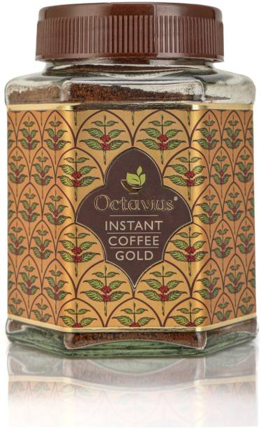 Octavius Gold Instant Coffee, Pure Granulated Coffee, made from the finest beans handpicked from premium plantation of South India Instant Coffee