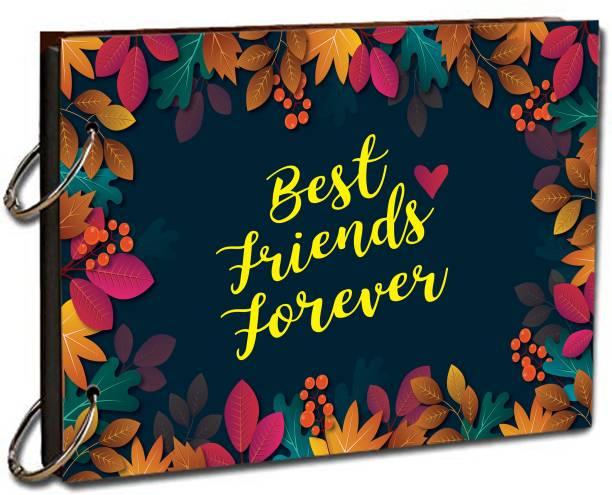 paper pebbles Best Friends Forever Leaf Border Background Scrap Book Album