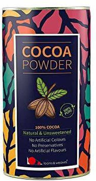 looms & weaves 100 % Pure & Natural Cocoa Powder From Kerala Unsweetened- 400 Gm Cocoa Powder