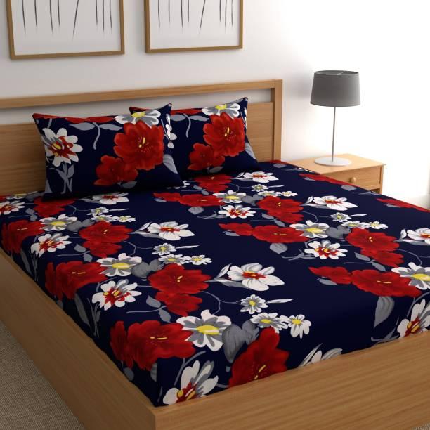 Flipkart SmartBuy 140 TC Microfiber Double Floral Bedsheet