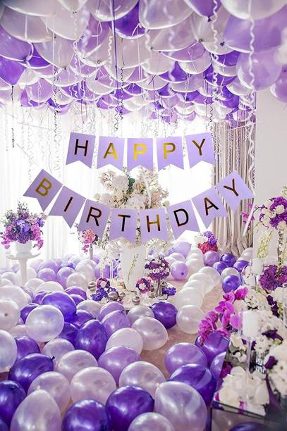 party assets Solid Purple Silver White Birthday Toy Balloons Balloon