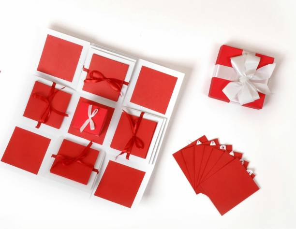 Crafted with passion love Explosion Box for birthday anniversary love Greeting Card