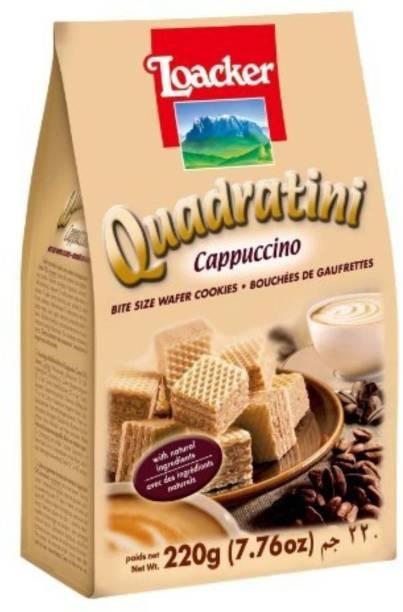 LOACKER Quadratini Wafer Cappuccino (Imported) Cream Filled