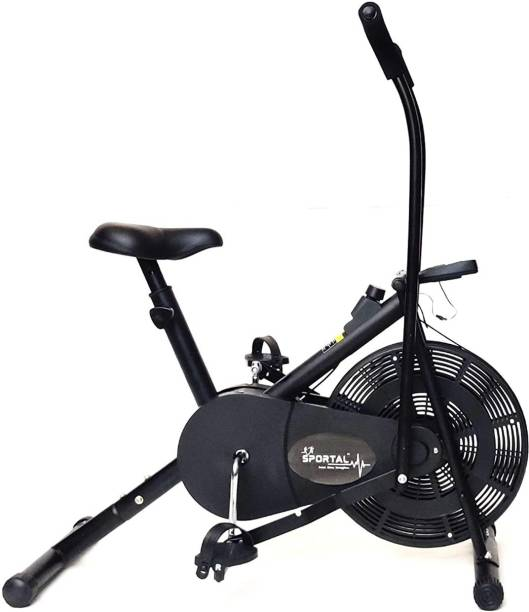 Sportal Air Bike Exercise Home Gym Cycle | Best Cardio Fitness Machine for Weight Loss Upright Stationary Exercise Bike