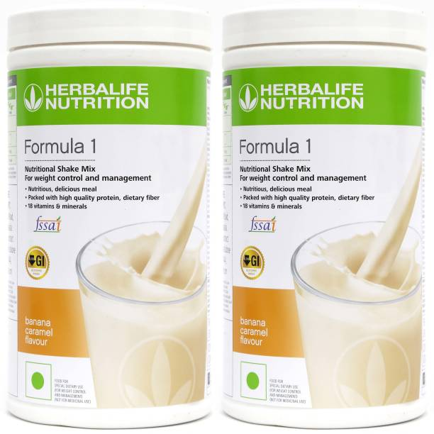 HERBALIFE Formula 1 Nutritional Shake Mix - Banana Flavor Combo Pack of 2 For Weight Loss Nutrition Drink
