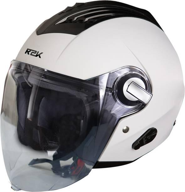 Steelbird SBA-3 R2K Classic Open Face Helmet in White Motorbike Helmet