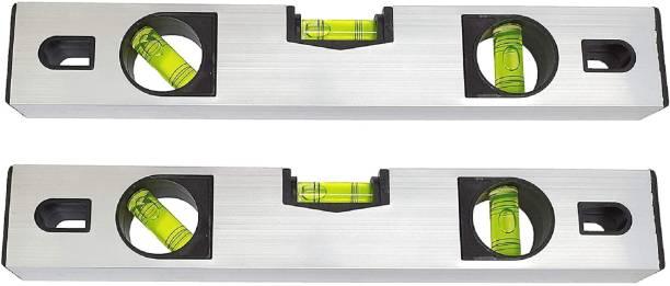 GADGET DEALS 12inch spirit level carpenter's level Pack Of 2 12 inch Spirit Level With Magnetic Carpenter's Level Pack Of 2 Magnetic Carpenter's Level