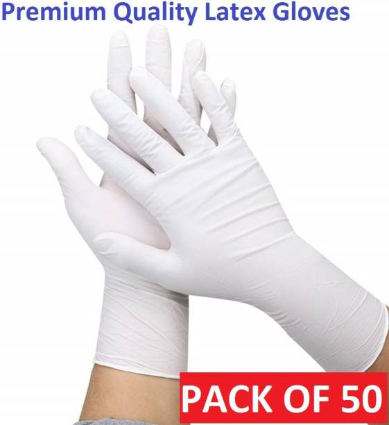 DM SPECIALLY FOR SPECIALIST - Premium Latex Gloves Hand Protection Rubber Examination Glove for Hospital, Clinic, Sanitary & Kitchen: ISO 9001:2015 Certified Latex Surgical Gloves