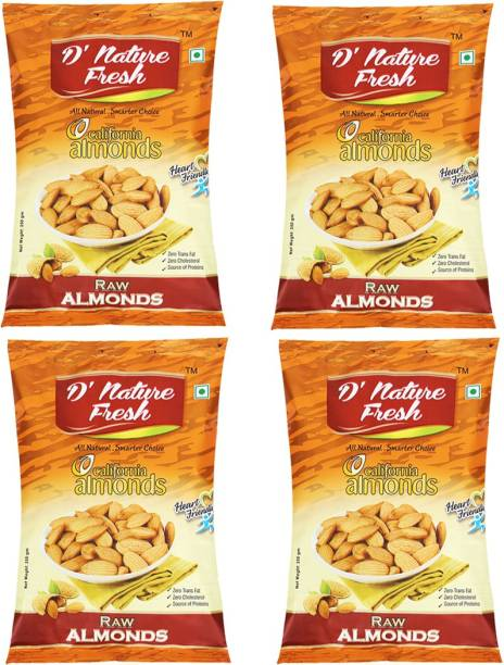 D NATURE FRESH California Almonds 1kg ( Pack of 4 - 250g Each) Almonds