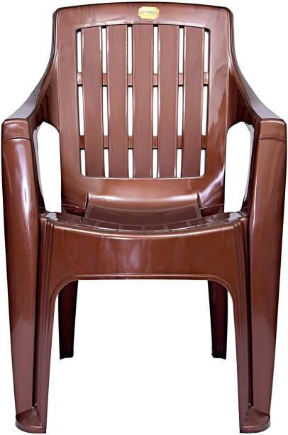 Anmol Plastic Moulded Mistique Keya Chair with Comfort Rest Back Weight Bearing Capacity 150 kg (Pack of 1) Plastic Outdoor Chair