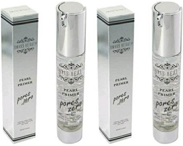 SWISS BEAUTY Pearl primer pores zero ( pack of 2) Primer  - 60 ml