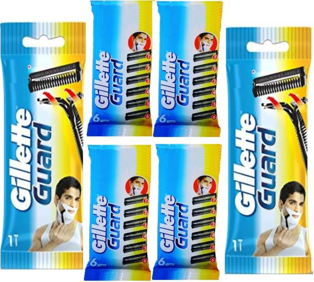 GILLETTE Guard Shaving razor set of 6