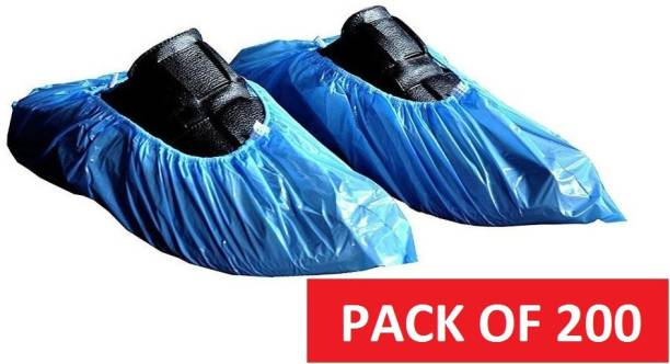 DM SPECIALLY FOR SPECIALIST - Premium Quality Stretchable Shoe Cover used in Hospital, restaurant, saloon PP (Polypropylene) Blue Toes Shoe Cover, Flat Shoe Cover, Boots Shoe Cover, High Heeled Shoe Cover, High Ankle Shoe Cover, Flat Shoe Cover