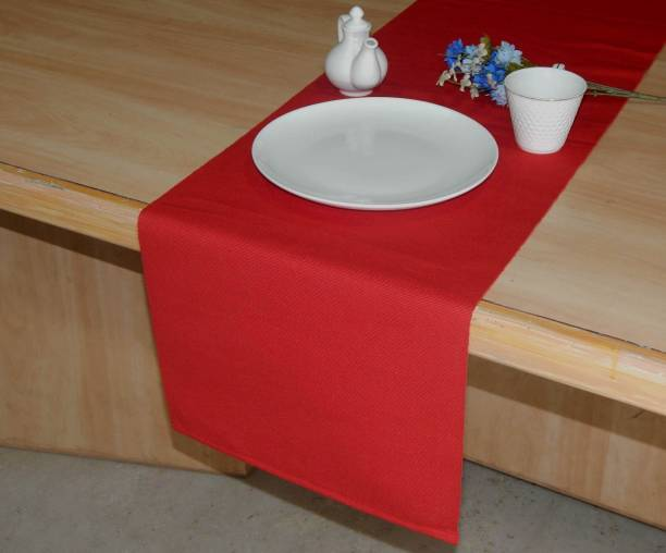 Home Colors.in Red 132 cm Table Runner