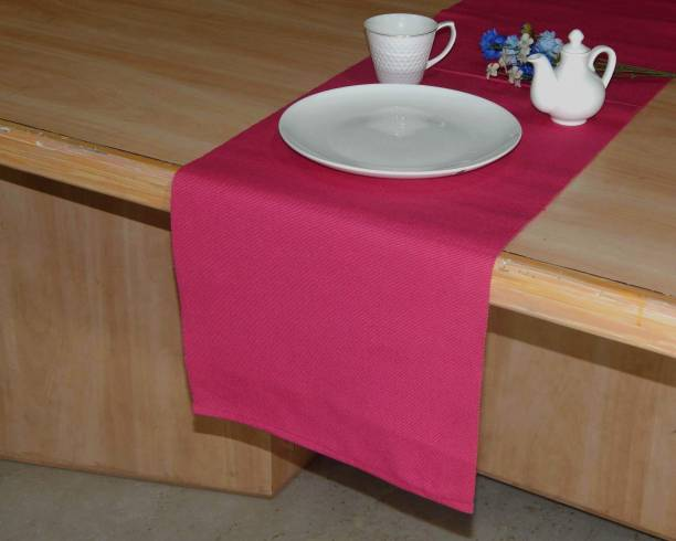 Home Colors.in Pink 132 cm Table Runner