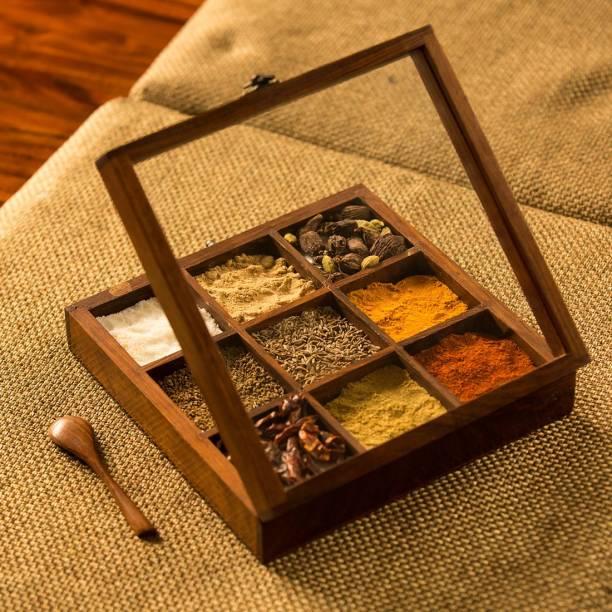 ExclusiveLane Sheesham Wood 1 Piece Spice Set