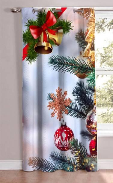 AH ARTSY HOME 214 cm (7 ft) Polyester Door Curtain Single Curtain