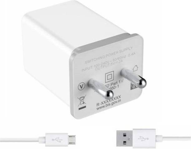 Tdoc Wall Charger Accessory Combo for Realme 1, Realme 2, Realme 2pro, Realme 3, Realme 3 Pro, Realme 3i, Realme C1, Realme C1, Realme C2, Realme U1, Realme X Lite, Realme Mobile Charger | Travel Battery Power Charger | High Speed Charger with 1 M Micro USB Charging Data Cable