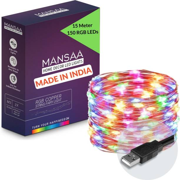 MANSAA 590.55 inch Multicolor Rice Lights
