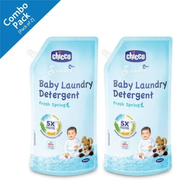 Chicco Laundry Detergent Fresh Spring 500 ml (Pack of 2) Fresh Liquid Detergent