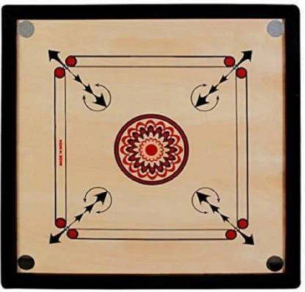 AANI SPORTS 20 INCH 4MM PLY strong glossy finish Carrom Board Coins, Striker Carrom Board Board Game