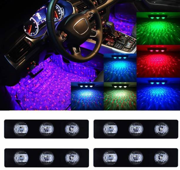 AutoPowerz Car Interior Ambient Star Lights, Multicolor with Music Control Star Atmosphere Light Car Fancy Lights (Multicolor) Car Fancy Lights