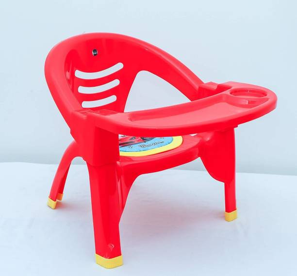 Miss & Chief Baby Chair, with Tray Strong and Durable Plastic Chair for Kids/Plastic School Study Chair/Feeding Chair for Kids,Portable With Soft Cusion And Sound Whistle