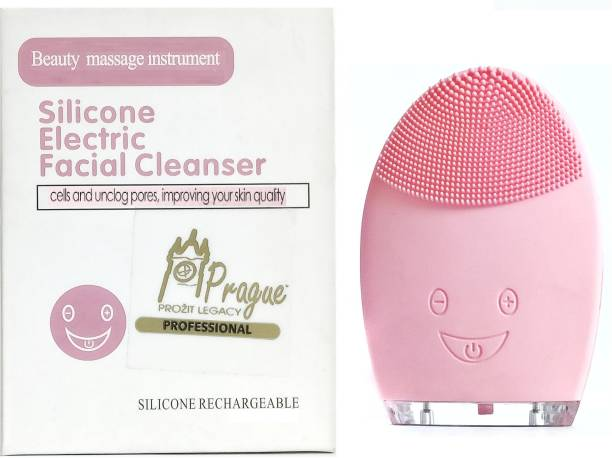 Prague Silicone Electric Facial Cleanser(Smiley) Facial Cleanser System & Brush