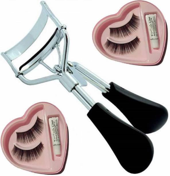 shutupnshop Combo of Eyelash Curler and False Eyelashes