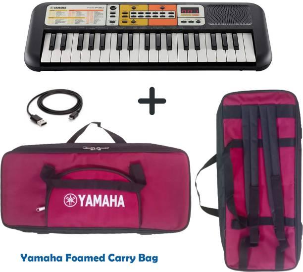 YAMAHA PSS F30 Portable Keyboard Combo Package with Bag and Cable PSS F30 Digital Portable Keyboard