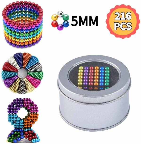 TradVision 5MM Multicolour Magnetic Balls Magnets Toys Sculpture Building Magnetic Blocks Magnet Cube Toy Stress Relief Gift