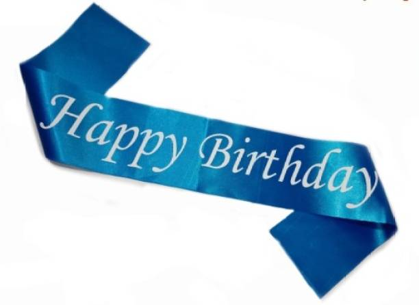 Best and Trendy Products Happy Birthday Satin Sash Blue