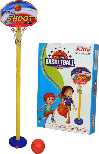 Myhoodwink Shoot Basketball Toy For kids With Adjustable Height Best Activity Game For Kids/ Indoor Outdoor Toy Basketball