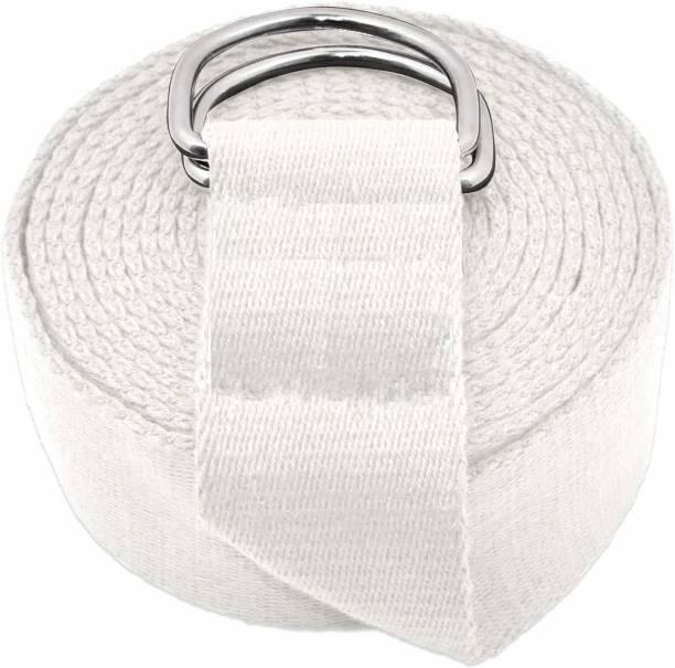 Prarabdh Yoga Strap/Belt 8 feet Cotton with Buckle for Stretching, Yoga for Women & Men Cotton Yoga Strap