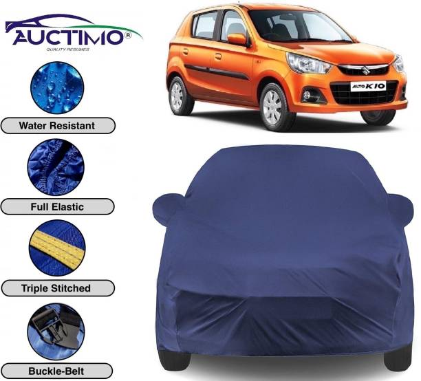 AUCTIMO Car Cover For Maruti Suzuki Alto K10 (With Mirror Pockets)
