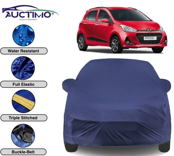 AUCTIMO Car Cover For Hyundai Grand i10 (With Mirror Pockets)