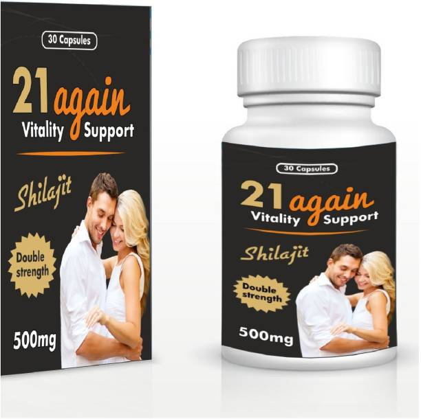21 again Vitally Support Shilajit Capsule Stamina Booster