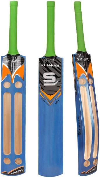 Strauss Scoop Tennis (Blue) Wooden Handle Kashmir Willow Cricket  Bat