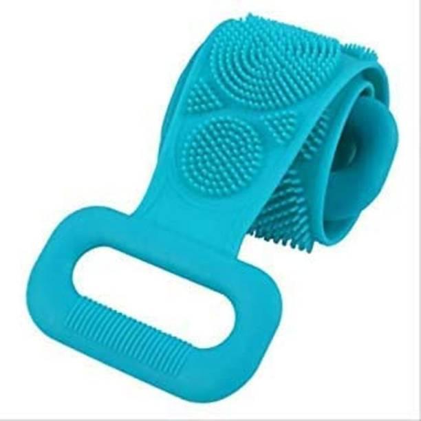 shivay Silicone Back Scrubber Belt Soft Body Massage Cleaning Exfoliating Bath Brush