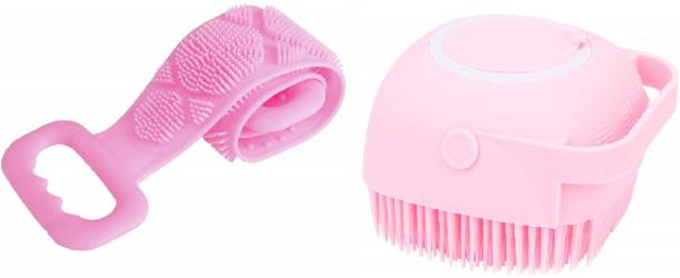 KBMART Soft Silicone Bath Brush & Body Wash Silicone Body Scrubber Belt