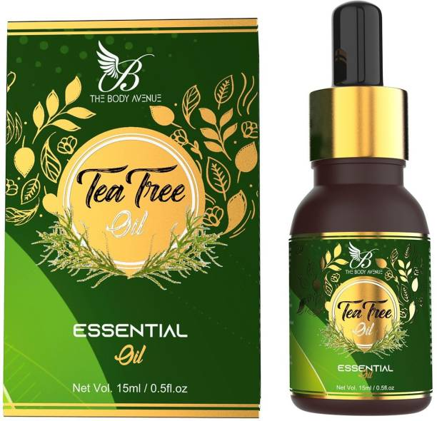 The Body Avenue Tree Essential Oil 100% Pure & Natural for Acne, Pimple, Dandruff, Face, Hair, Skin, Aromatherapy, Therapeutic Grade