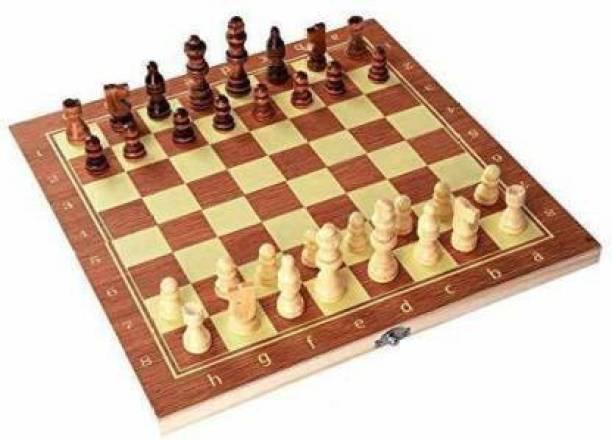 "Akshaj 13""X 13"" Morex Wooden Folding Chess Set,Handmade Game Board 4 cm Chess Board"