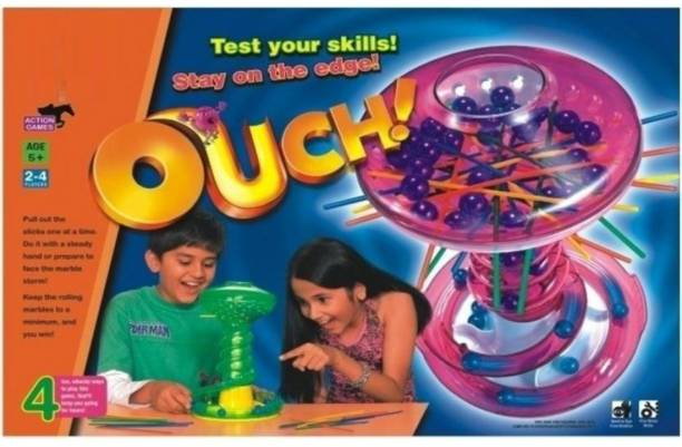 Joy Bukket Ouch Game Senior Marble Stick Game for Building Kids Concentration Strategy & War Games Board Game