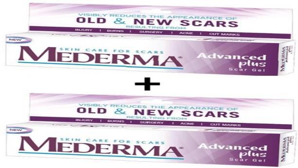 MEDERMA Advanced Plus Scar Gel - 10 gm   Pack of 2
