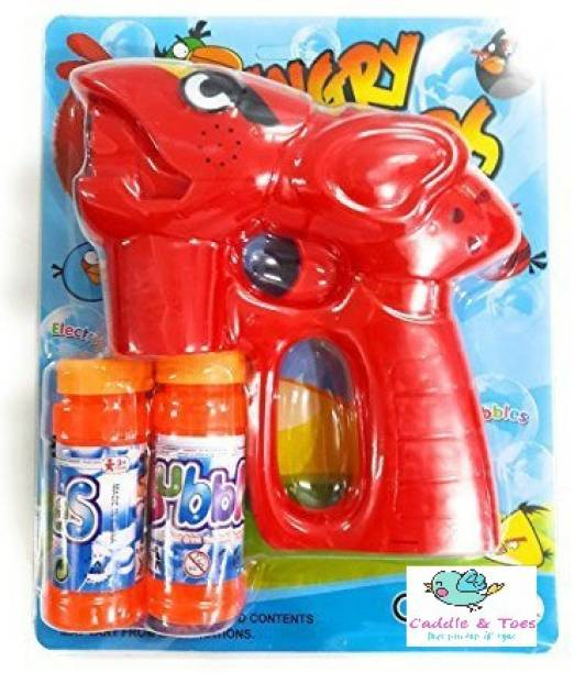CADDLE & TOES Battery Operated Led Bubble Shooter Gun with Bubble Bottle Inside Guns & Darts Guns & Darts