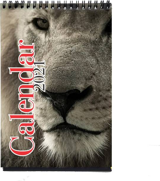 REGALOS Wild Animal Table Calendar 2021 Table Calendar