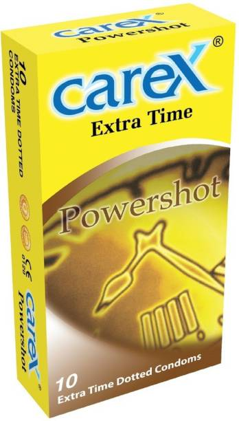 CAREX Powershot 10 Extra Time Dotted Condom Condom